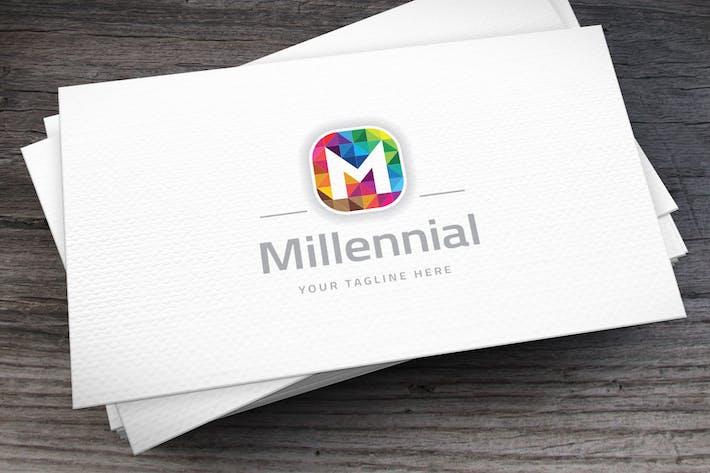 Thumbnail for Millennial Brand Letter M Logo Template