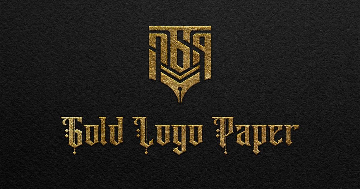 Download Gold Logo Paper Mockup by sagesmask
