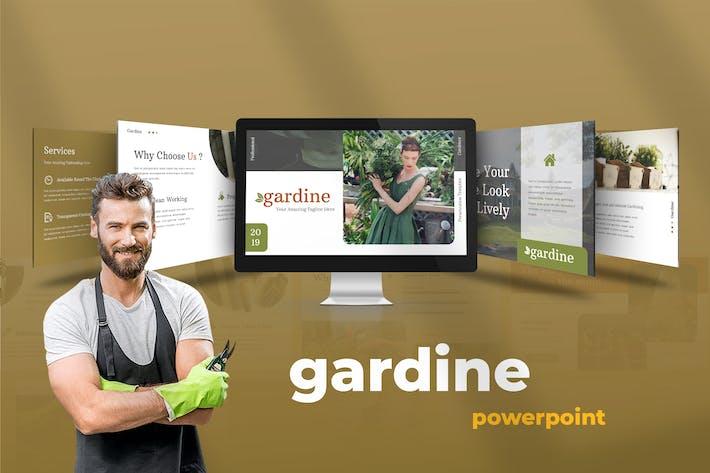 Thumbnail for Gardine - Home Gardening Powerpoint Presentation