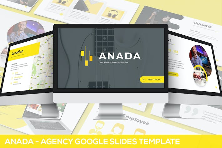 Thumbnail for Anada - Agency Google Slides Template