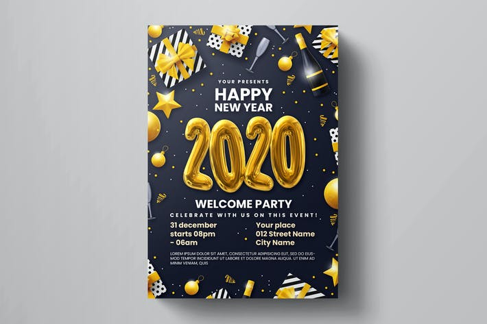 Thumbnail for New Year Party Flyer Template