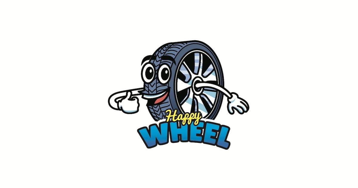 Download happy wheel - Mascot Logo by aqrstudio
