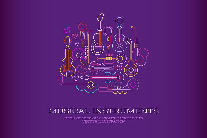 Thumbnail for Musical Instruments Neon