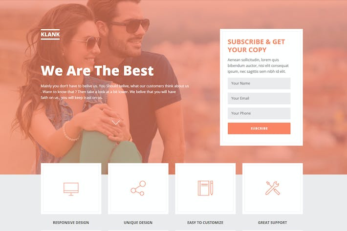 Thumbnail for Klank - Multipurpose Landing Page Muse Template