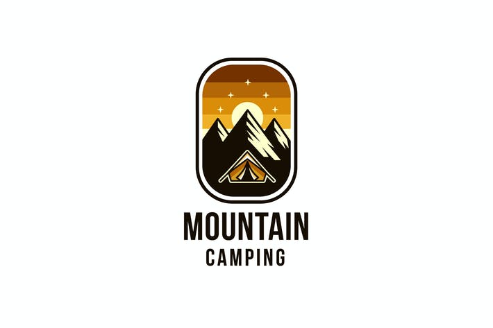 Thumbnail for Mountain Camping Logo Template