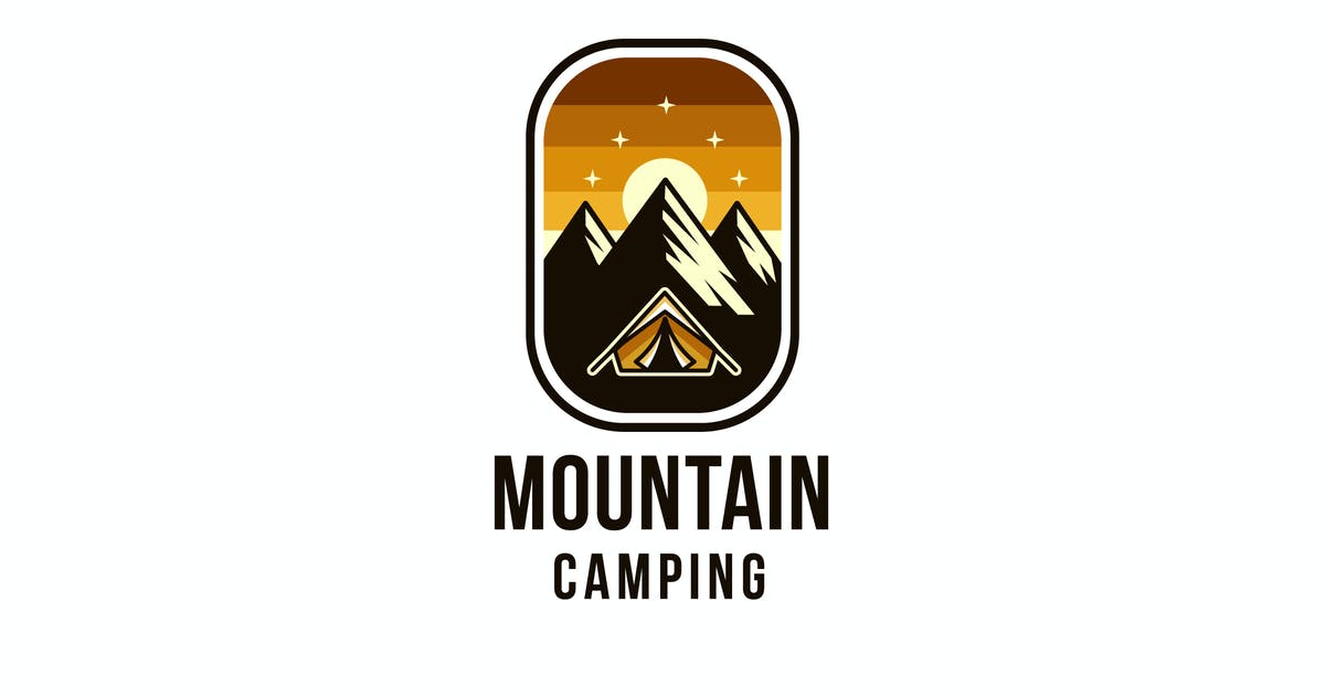 Download Mountain Camping Logo Template by IanMikraz