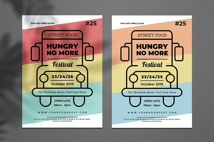 Thumbnail for Food Truck Flyer Retro