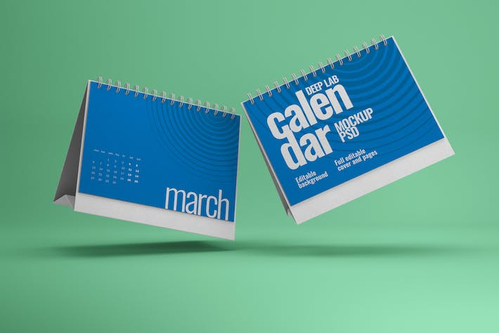 Thumbnail for Horizontal Desk Calendar Mockup
