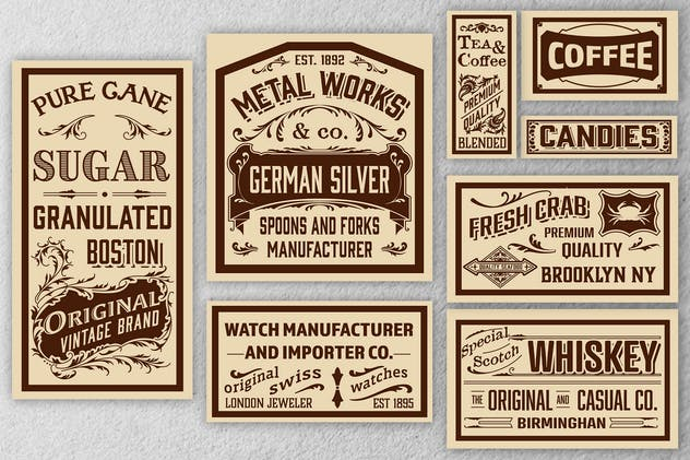 Vintage Set Ads Layouts