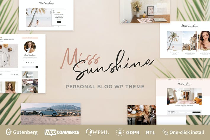 Cover Image For Miss Sunshine - Lifestyle & Beauty Women Blog