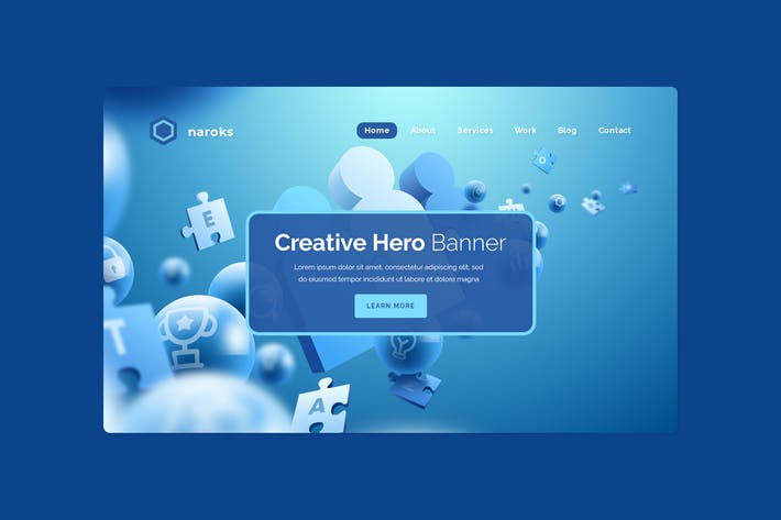 Thumbnail for Naroks - Hero Banner Template