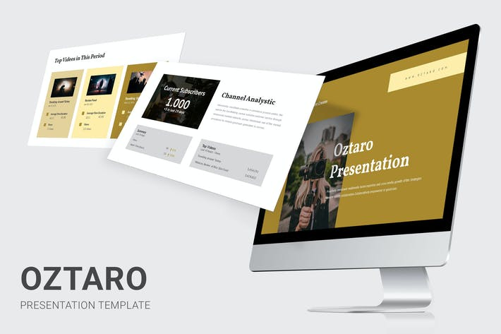 Thumbnail for Oztaro - Video Content Creator Powerpoint