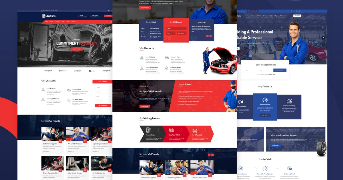 Download Autrics | Car Services and Auto Mechanic WordPress by trippleS