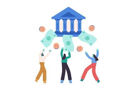 Banking Flat Illustration