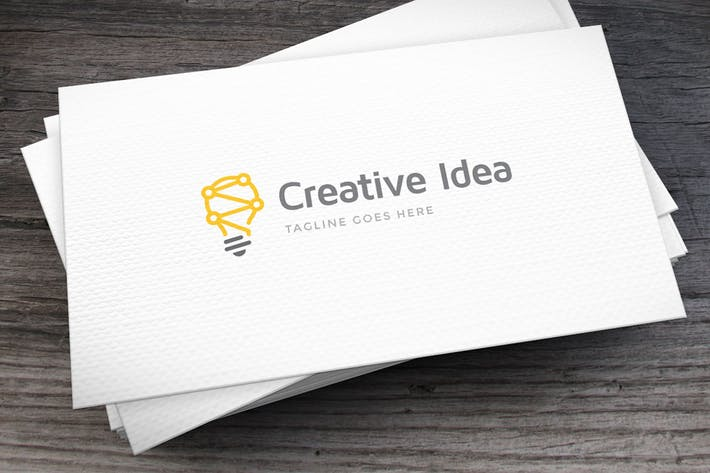Cover Image For Creative Idea Logo Template