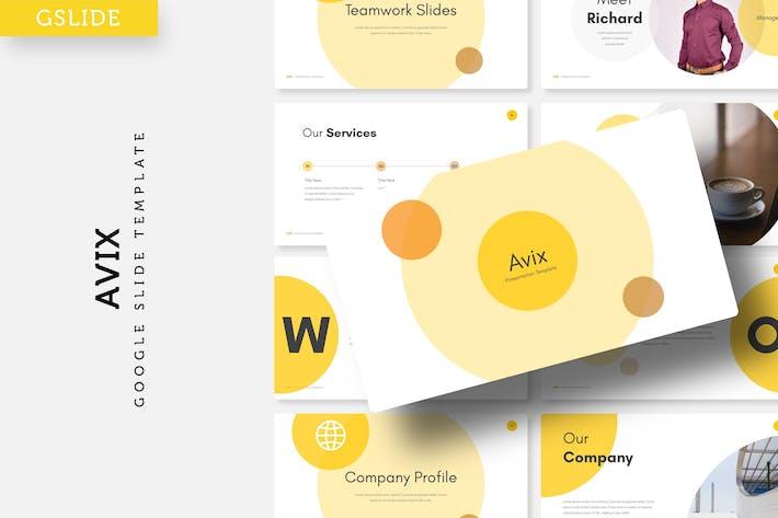 Thumbnail for Avix - Google Slide Template