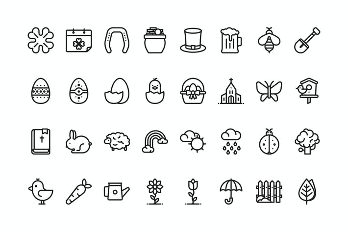 Thumbnail for 32 Spring icons