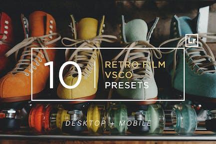 10 Ретро фильм VSCO Пресеты Lightroom
