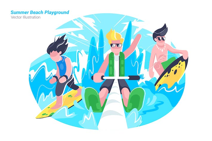 Thumbnail for Beach Playground - Vector Illustration