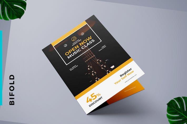 Brochure Bifold Cours de Musique & Concert de Musique