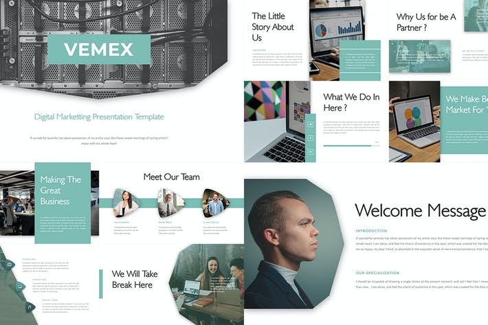 Thumbnail for Vemex – Digital Marketting PowerPoint Template