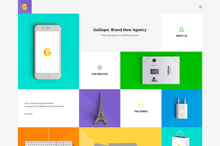 Thumbnail for Galliope - Agency/Portfolio HTML Template