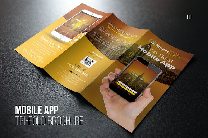 Thumbnail for Mobile App Tri-Fold Brochure
