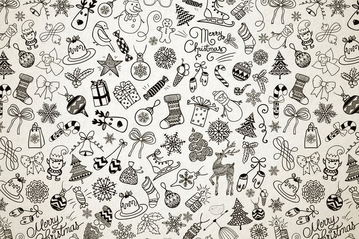 Thumbnail for Xmas Doodles Seamless Pattern