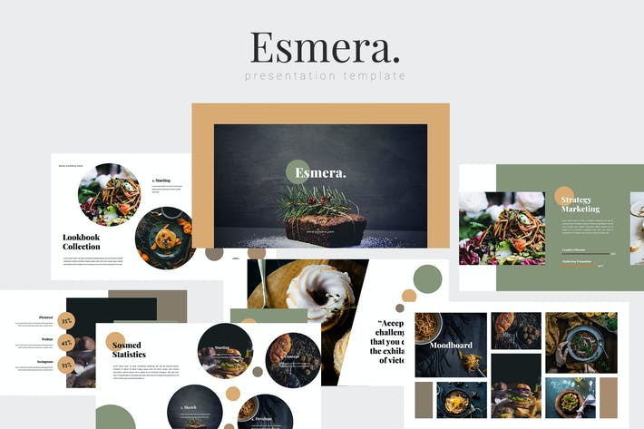 Thumbnail for Esmera - Restaurant Powerpoint Template