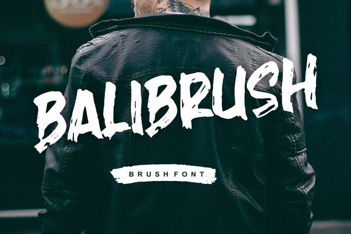 Balibrush - Rough Marker Font
