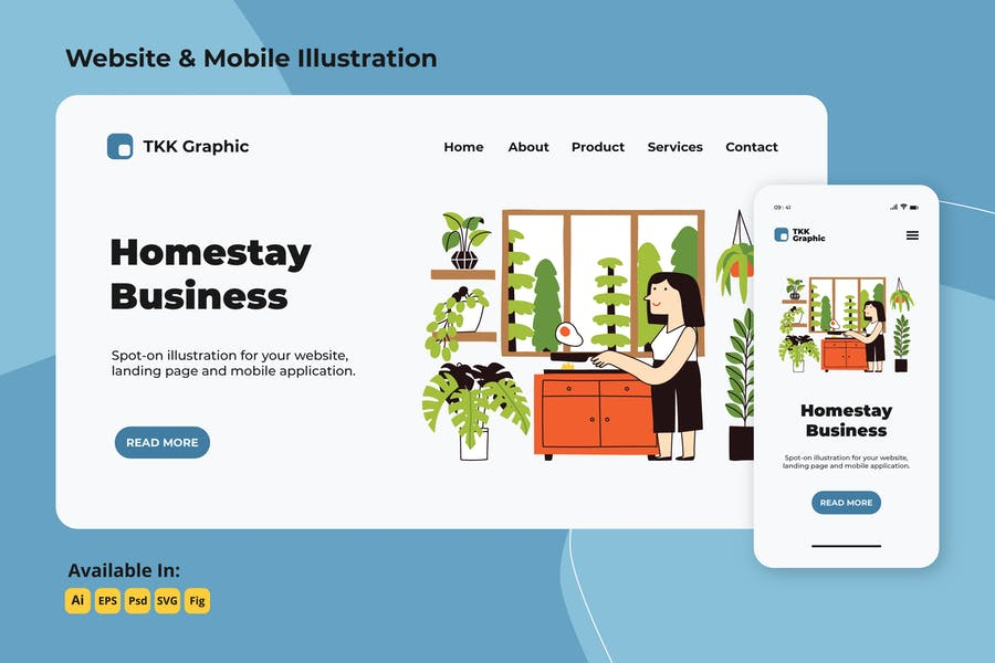 Kitchen activity in homestay web and mobile
