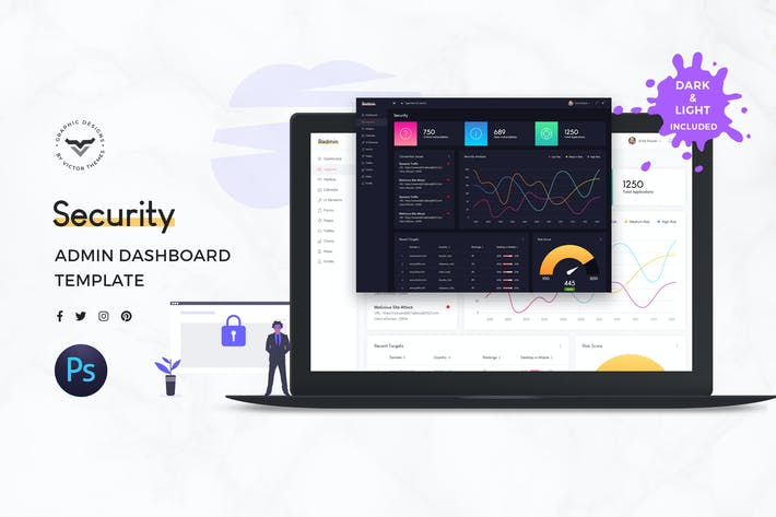 Thumbnail for Security Admin Dashboard UI Kit