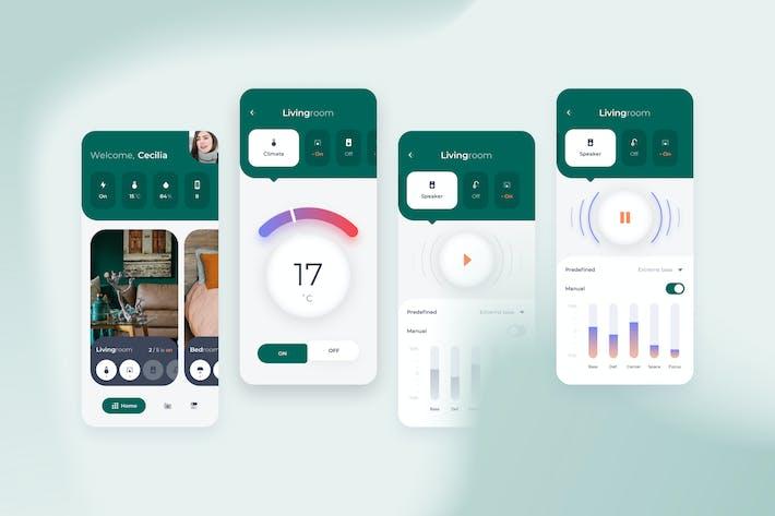 Thumbnail for Smart Home Livingroom Control UI - FD