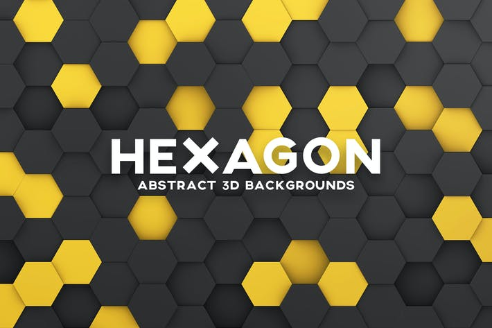 Thumbnail for Hexagon 3D Background Set