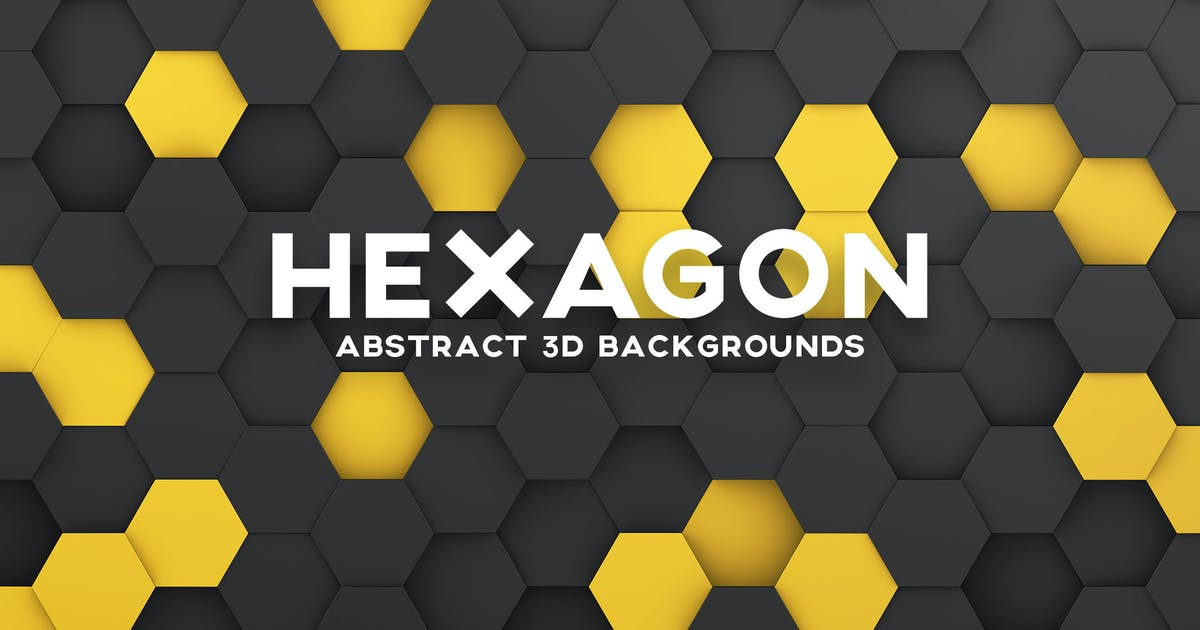 Download Hexagon 3D Background Set by themefire