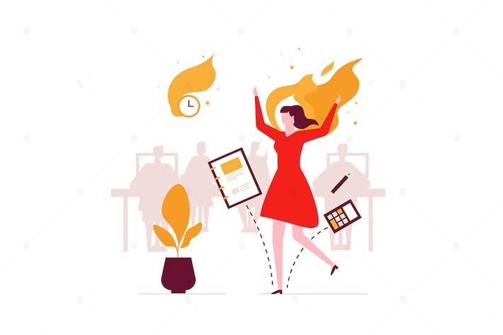 Thumbnail for Job burnout - flat design style illustration