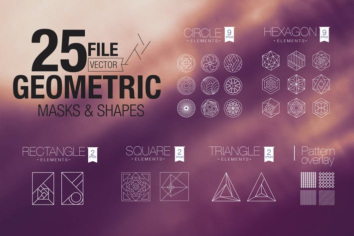 Thumbnail for Vector Geometric Mask & Shapes