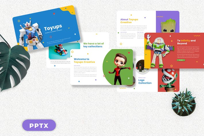 Thumbnail for Toyups - Kids Toy Powerpoint Templates