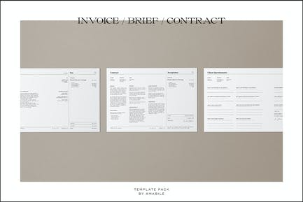 Invoice/Brief/Contract Template Pack