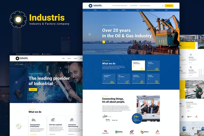 Thumbnail for Industris | Factory & Industrial HTML5 Template