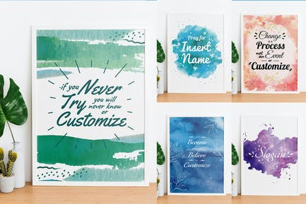 Watercolor Background With Quote