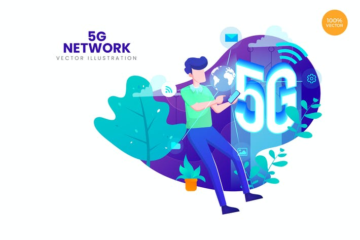 Thumbnail for 5G Network Vector Illustration Concept