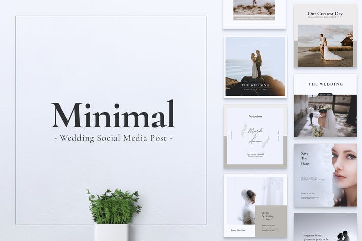 Thumbnail for Wedding Minimal Instagram & Facebook Post
