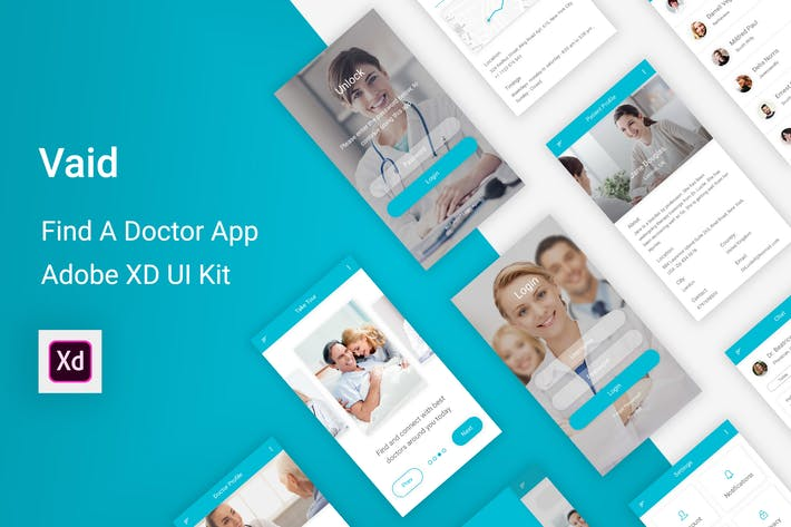 Thumbnail for Vaid - Find A Doctor UI Kit for Adobe XD