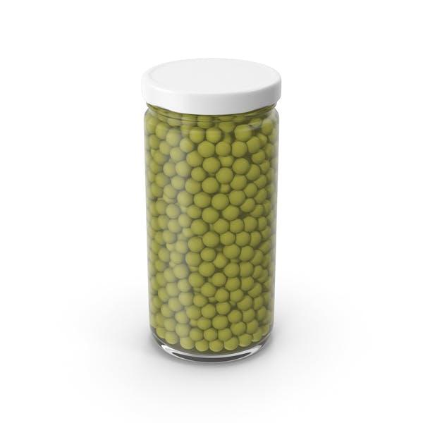 Erbsen-Glas grün