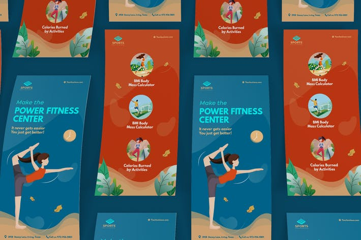 Thumbnail for Sport Activities DL Rackcard Illustration Template