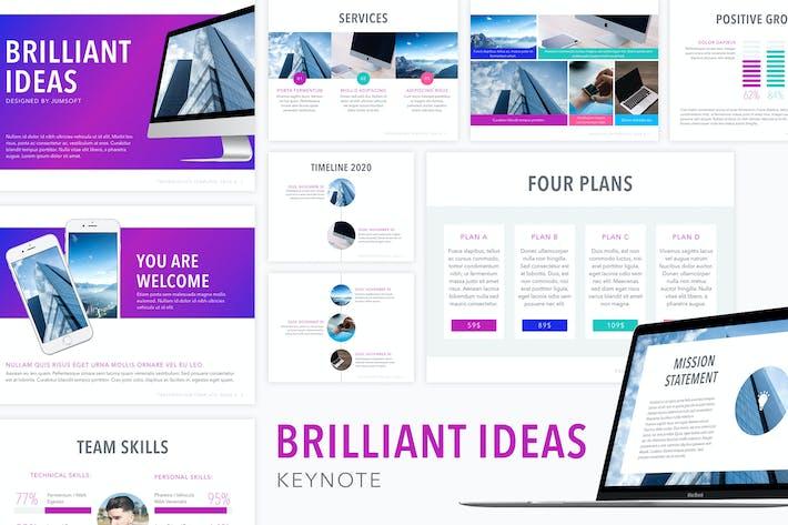 Шаблон ключевых заметок блестящих идей