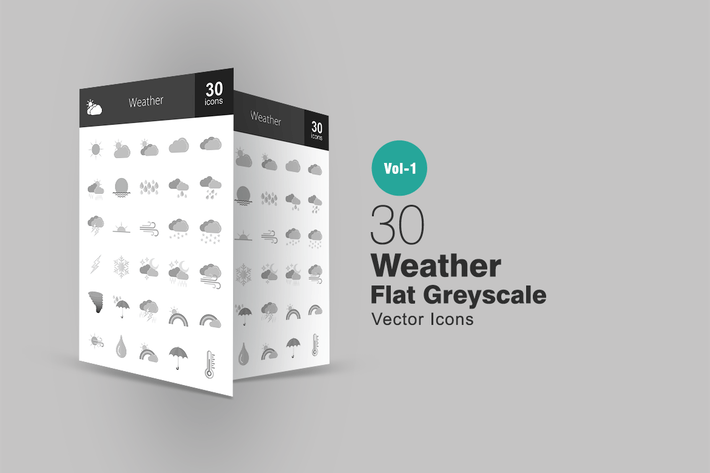 Thumbnail for 30 Wetter-Graustufen-SyIcons