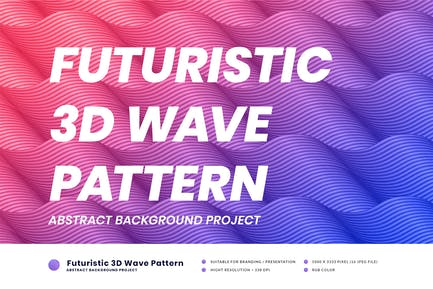 Futuristisches 3D Wellenmuster
