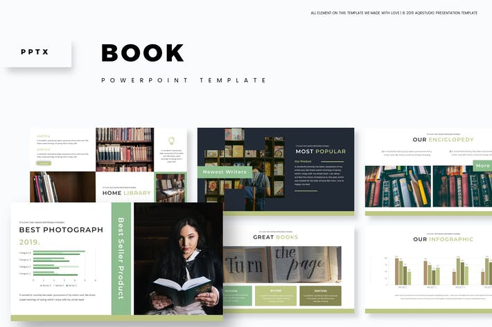 Book - Powerpoint Template